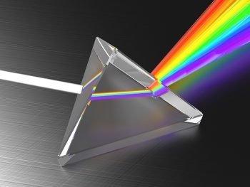 teoria de color prisma de luz