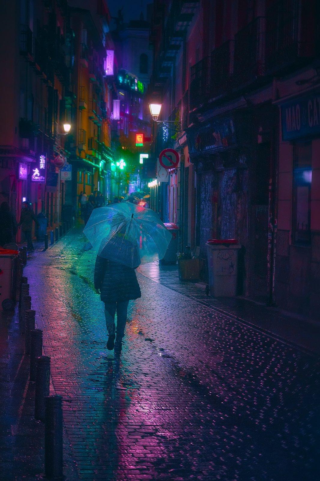 Madrid Neon Noir I