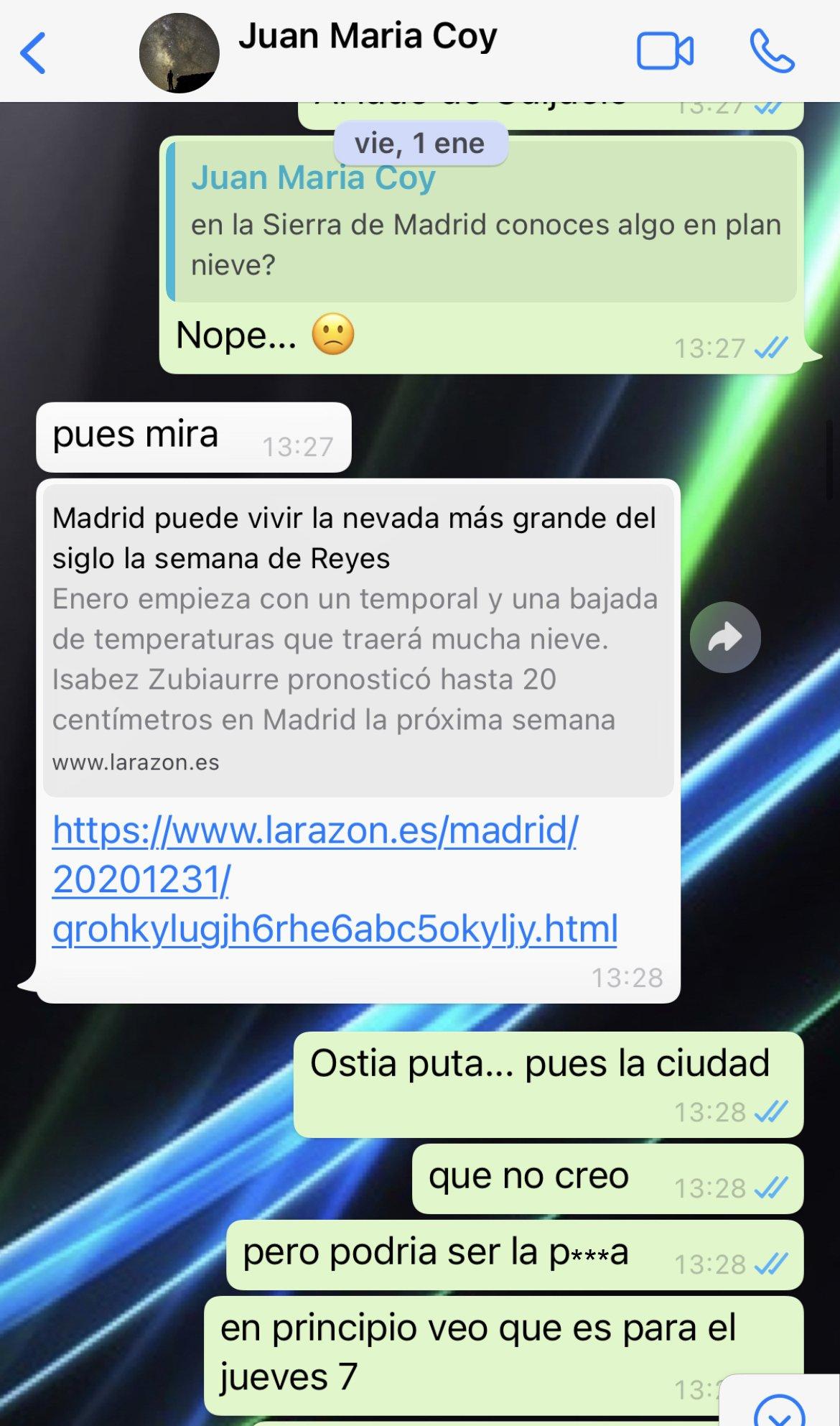 WhatsApp Juan Maria Coy